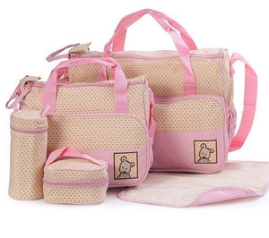 CROAL CHERIE 39*28.5*17CM 5pcs Baby Diaper Bag Suits For Mom Baby Bottle Holder Mother Mummy - MBMCITY