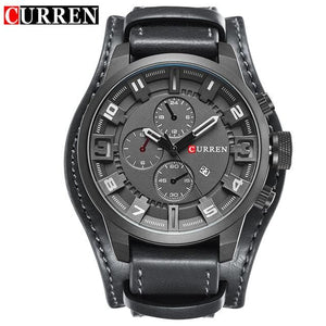 Curren 8225 Army Military Quartz Mens Watches Top Brand Luxury Leather Men Watch Casual Sport Male Brown / China