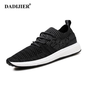 DADIJIER New Men Shoes Lace up Fashion brand Mesh Spring Summer shoes Flats Solid Men Sneakers