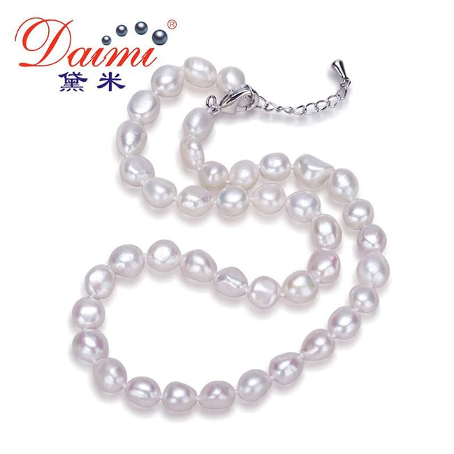 Daimi Genuine Baroque Pearl Necklace, Trendy Necklace For Woman, New Bijouterie Fine Jewelry 9-10 mm - MBMCITY