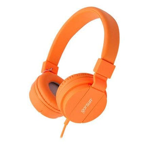 Deep Bass Headphones Earphones 3.5Mm Aux Foldable Portable Adjustable Gaming Headset For Phones Mp3 Orange