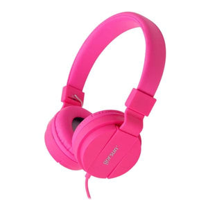 Deep Bass Headphones Earphones 3.5Mm Aux Foldable Portable Adjustable Gaming Headset For Phones Mp3 Pink