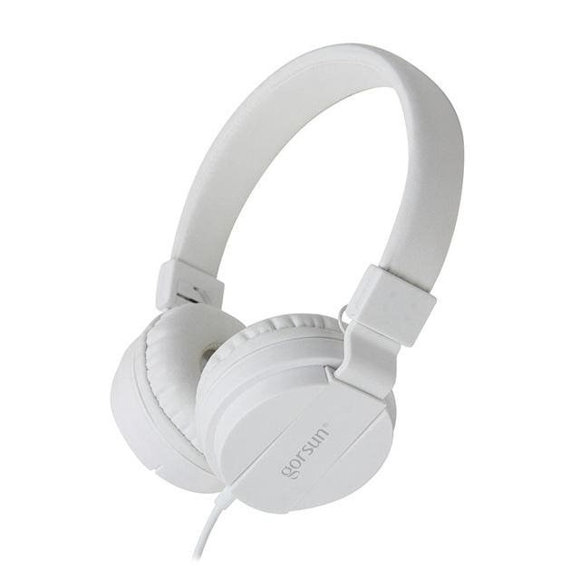 Deep Bass Headphones Earphones 3.5Mm Aux Foldable Portable Adjustable Gaming Headset For Phones Mp3 White