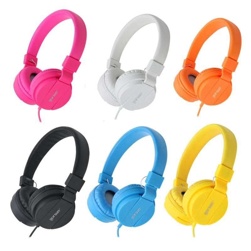 Deep Bass Headphones Earphones 3.5Mm Aux Foldable Portable Adjustable Gaming Headset For Phones Mp3