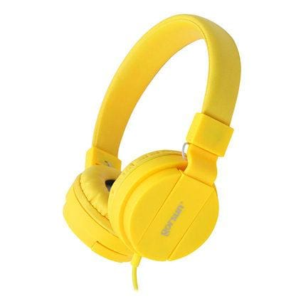 Deep Bass Headphones Earphones 3.5Mm Aux Foldable Portable Adjustable Gaming Headset For Phones Mp3 Yellow