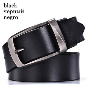 DINISITON designer belts men high quality genuine leather belt man fashion strap male cowhide belts RB black / 100cm