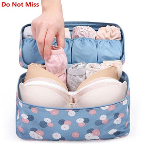 Do Not Miss 2017New Makeup Bag Travel Bra Underwear Lingerie Organizer Bag Cosmetic Daily Supplies.