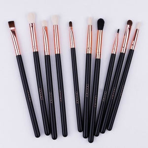 Docolor 10Pcs Makeup Brushes Eye Brow Brush Eyeshadow Eyeliner Lip Brushes For Makeup Eye Make Up Pony Hair