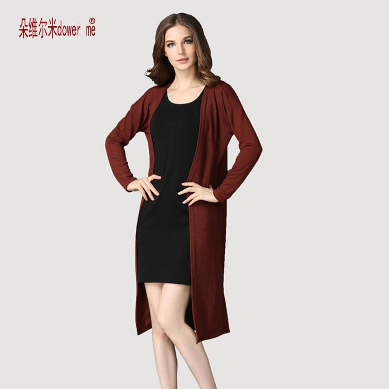 dower me drop shipping Cardigan Women Sweater casual Crochet Poncho Plus Size Coat Women long