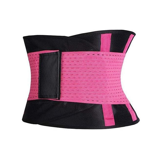 Dropshipping Ecmln Waist Trainer Cincher Man Women Xtreme Thermo Power Hot Body Shaper Girdle Belt Rose Red / L