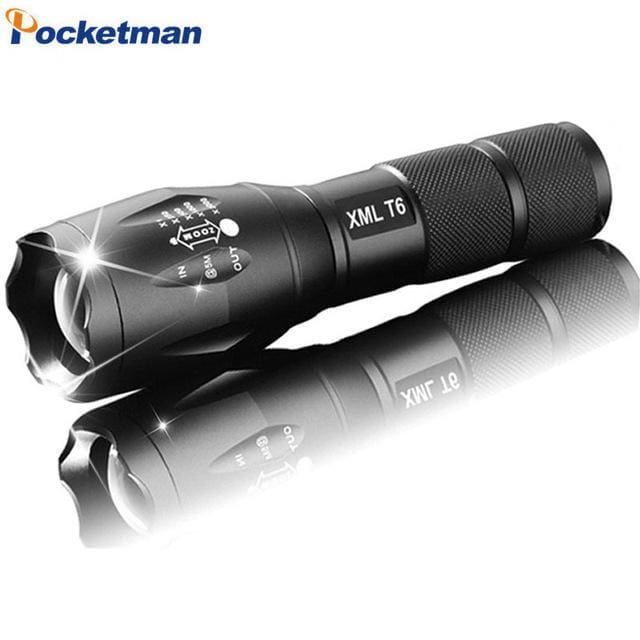 E17 LED Flashlight zoom torch waterproof flashlights XM-L T6 Q5 3800LM 3mode 5mode led Zoomable option E