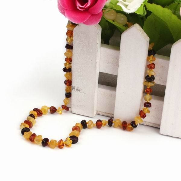 East World 16 Colors Amber Teething Bracelet/necklace For Baby Adult Lab Tested Authentic 8 Sizes Multicolor / 20Cm Adult Bracelet