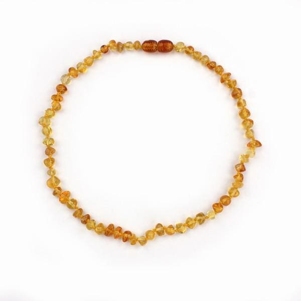 EAST WORLD 16 Colors Amber Teething Bracelet/Necklace for Baby Adult Lab Tested Authentic 8 Sizes gold / 20cm adult bracelet
