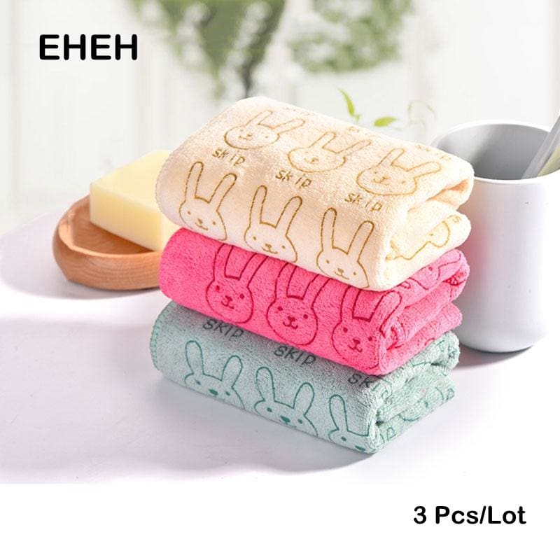 EHEH 3 PCS/Lot Microfiber Face Towel 25*50cm Solid Fresh design Towel 3 Color Quality Quick Dry Hand - MBMCITY