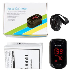 ELERA Digital Oximetro De Dedo With Case Pulse Oximeter Blood Saturometro Monitor SPO2 PR Oximetro - MBMCITY