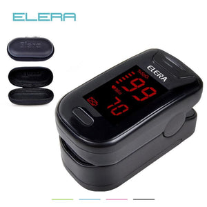 ELERA Digital Oximetro De Dedo With Case Pulse Oximeter Blood Saturometro Monitor SPO2 PR Oximetro