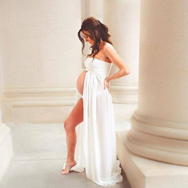 Envsoll Maternity Dress for Photo Shoot Maxi Gown Maternity Chiffon Dress For Pregnant Women Sexy - MBMCITY