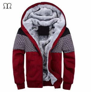 European Fashion Bomber Mens Vintage Thickening Fleece Jacket Autumn Winter Designer Famous Brand
