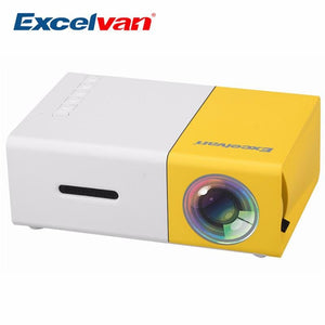 Excelvan YG300 Mini Portable Projector LCD Proyector HDMI USB AV SD 400-600 Lumen Theater Children