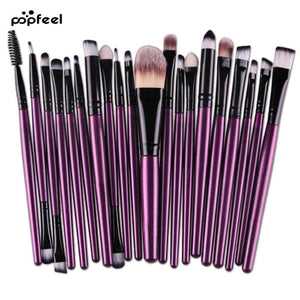 Eye Makeup Set 20 pcs Brushes Set Eyeshadow Blending Brush Powder Foundation Eyes Eyebrow Lip