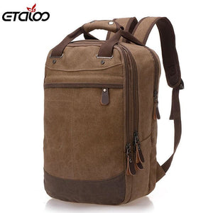 Factory direct foreign trade trend of casual canvas bag man bag computer backpack student leisure