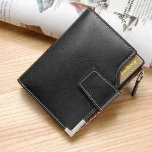 Fashion Brand Men Wallet Pu Leather Pocket Short Wallet Coin Purse Designer Handy Men Luxury Wallet With Zipper Coffee