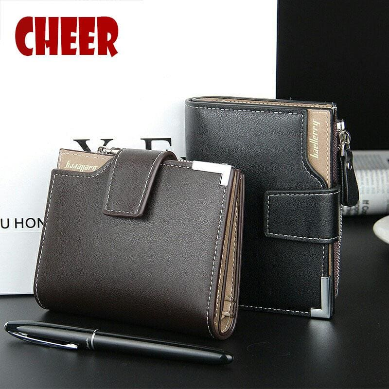 Fashion Brand Men wallet pu leather pocket Short Wallet coin purse Designer Handy men luxury wallet.