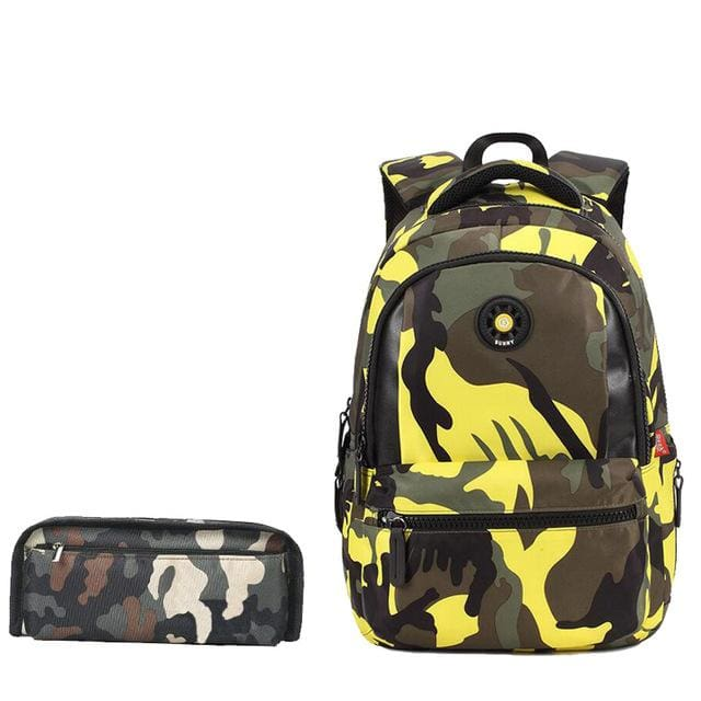 Fashion Camouflage Kid Backpack Bag School Bags Travel Backpack Bags For Cool Boy And Girl Drop