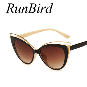 Fashion Classic Women Brand Designer Cateye Sunglasses Female Vintage Lady Sun Glasses Oculo De Sol - MBMCITY