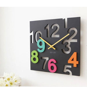 Fashion Hanging Wall Clock Modern Design 3D Novelty Silent Europe Style Hollow Design Table Clocks