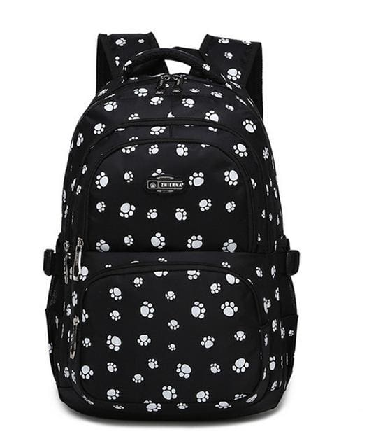 Fashion kids book bag breathable backpacks children school bags women leisure travel shoulder black
