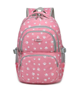 Fashion kids book bag breathable backpacks children school bags women leisure travel shoulder pink