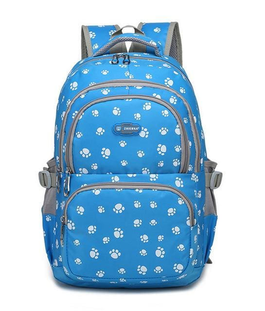 Fashion kids book bag breathable backpacks children school bags women leisure travel shoulder blue