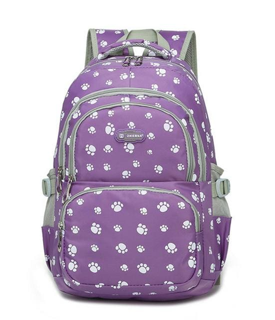 Fashion kids book bag breathable backpacks children school bags women leisure travel shoulder purple