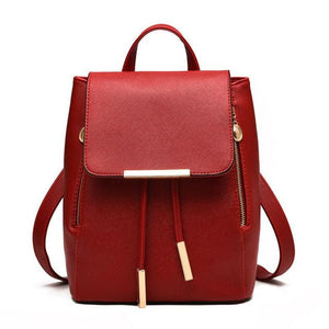 Fashion Leather Backpack Women Fashion School Bags For Teenagers Girl Laptop Travel Hand Backpack