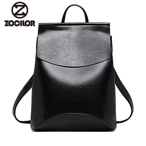 Fashion Women Backpack High Quality Youth Leather Backpacks for Teenage Girls Female School Shoulder - MBMCITY