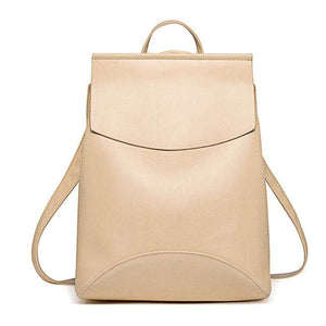 Fashion Women Backpack High Quality Youth Leather Backpacks For Teenage Girls Female School Shoulder Golden / China