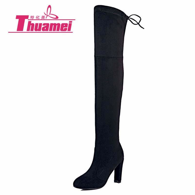 Faux Suede Slim Boots Sexy over the knee high women snow boots women's fashion winter thigh high - MBMCITY
