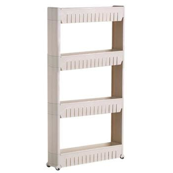 Fie Multipurpose Shelf With Removable Wheels Crack Rack Bathroom Storage Storage Rack Shelf Four Layer Gray / China