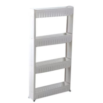 Fie Multipurpose Shelf With Removable Wheels Crack Rack Bathroom Storage Storage Rack Shelf Four Layer White / China