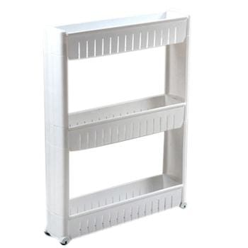 Fie Multipurpose Shelf With Removable Wheels Crack Rack Bathroom Storage Storage Rack Shelf Three Layer White / China