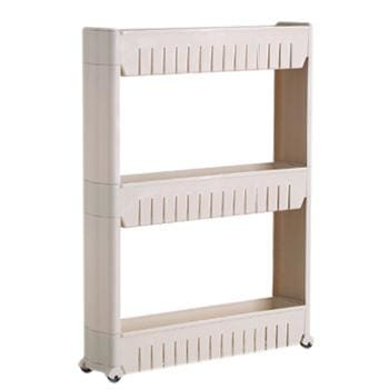 Fie Multipurpose Shelf With Removable Wheels Crack Rack Bathroom Storage Storage Rack Shelf Three Layer Gray / China