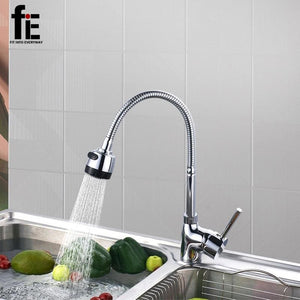 fiE Solid Brass Kitchen Mixer Cold and Hot Kitchen Tap Single Hole Water Tap Kitchen Faucet Torneira - MBMCITY