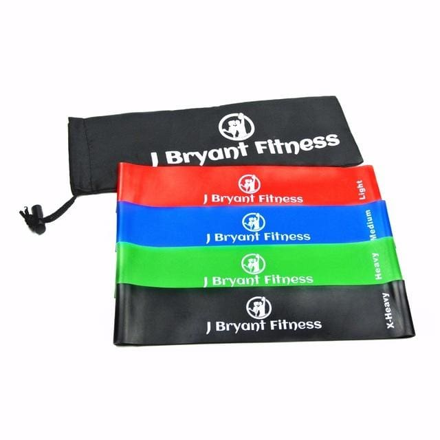 Fitness Resistance Band Set 4 Levels Elastic Latex Strength Training Athletic Rubber Loops Bands 4Pcs 25Cm