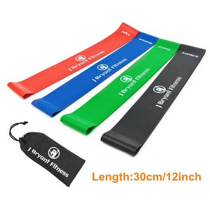 Fitness Resistance Band Set 4 Levels Elastic Latex Strength Training Athletic Rubber Loops Bands 4Pcs 30Cm