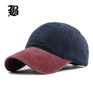 [Flb] 9 Mixed Colors Washed Denim Snapback Hats Autumn Summer Men Women Baseball Cap Golf Sunblock