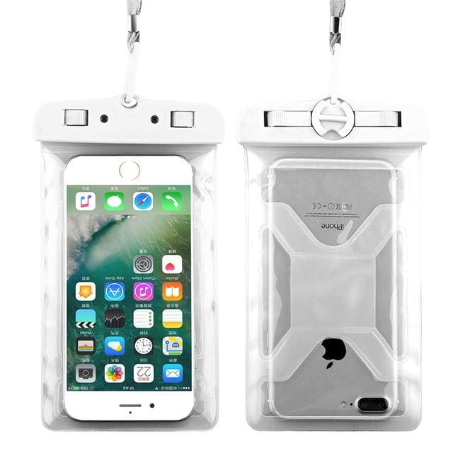 Floveme Universal Ipx8 Waterproof Case For Iphone X 8 Plus Swimming Phone Case For Samsung Galaxy S8 White