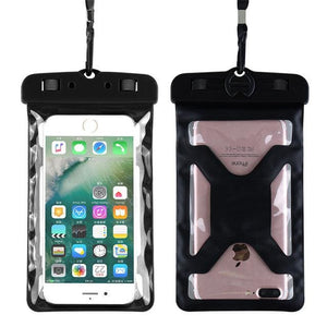 Floveme Universal Ipx8 Waterproof Case For Iphone X 8 Plus Swimming Phone Case For Samsung Galaxy S8 Black