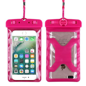 Floveme Universal Ipx8 Waterproof Case For Iphone X 8 Plus Swimming Phone Case For Samsung Galaxy S8 Hot Pink