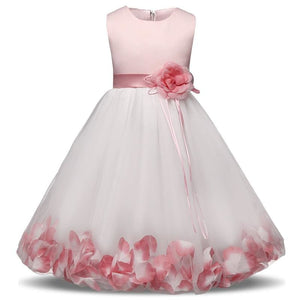 Flower Christmas Girl Dress Wedding Princess Tutu Party Events Dresses For Teenage Girl Dress - MBMCITY
